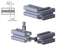 Schnellspannverbinder-Nut-8 außen