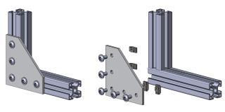 Halteplatte Winkel T-Verbinder