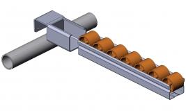 Röllchenleistenaufnahme Aufnahme-für-Röllchenleiste