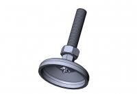 Stellfuß, Stahl, verzinkt, Aluprofil, M12, 10 kN, 10000N, 1060 S 12060 VZ 01