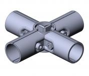 Verbinder 90° 4-fach Kreuzverbinder