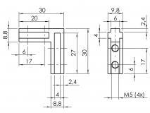 Nutwinkel-Nut-6-innen und außen 4101-S-0609-VZ-01