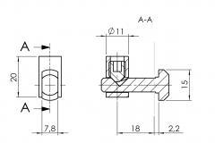 Schnellspannverbinder-Nut-8-außen 4508-S-0801-VZ-01