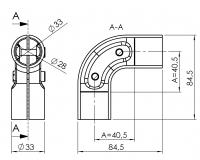 Eckverbinder 90° Verbinder-90-Grad Verbinder-90° 5011-S-001-SW-01