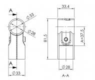 Verbinder-90° 1-fach Verbinder 90° T-Verbinder Querverbinder
