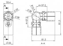 Verbinder 90° 2-fach Verbinder-90° 5015-S001-SW-01