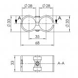 Parallelverbinder Doppelverbinder 5018-S-001-SW-01