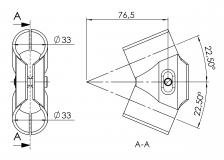 Endverbinder 45° 5021-S-001-SW-01 45-Grad-Verbinder