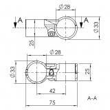 Querverbinder für Rohrprofilsystem Rohrverbinder 5025-S-001-SW-01