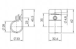 Verbinder für Anbauteile Rohrverbinder 5026-S-001-SW-01
