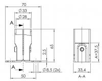 Systemverbinder Profilverbinder 5027-S-001-SW-01
