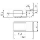 Röllchenleistenaufnahme mit Anschlag 5053-S-002-VZ-01
