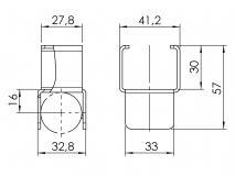 Röllchenleistenaufnahme Zwischenstütze 5053-S-005-VZ-01