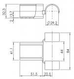 Aufnahmegelenk schwenkbar Gelenk-beweglich 5053-S-007-VZ-01