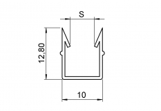 Einfassprofil, soft, Nut 10, schwarz, Flächenelemente, Glasscheibe